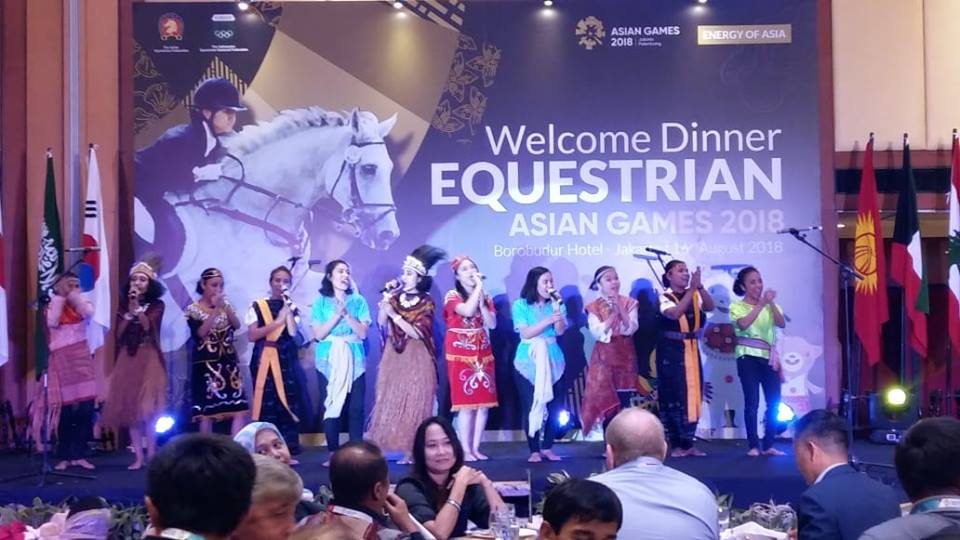 Tampil di Acara Welcome Dinner Equestrian Asian Games (14 Agustus 2018)