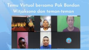 Temu mitra secara virtual bersama Pak Bondan Witjaksono ( Asian Political and International Studies Association APISA, Regional Representative Council, Lecturer ) dan Kak Pires, Kak Mariano, dan Pak Alfons ( 06-11-2020 )
