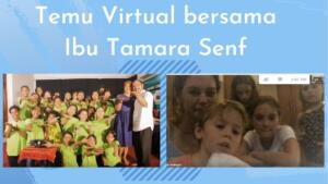 Temu mitra secara virtual bersama Ibu Tamara Senf - van Kralingen ( Foresight & Innovation Partner at Pepperbrands ) - ( 05-11-2020 )